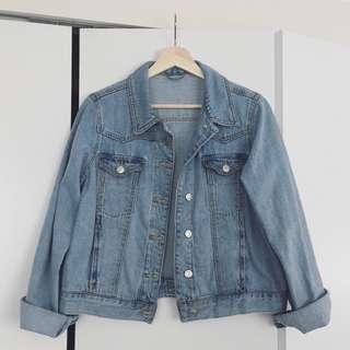 Topshop fitted western denim jacket