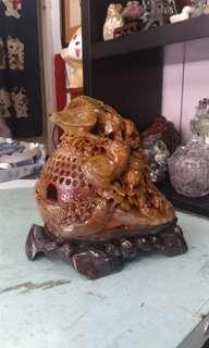 老件 巴林壽山石雕