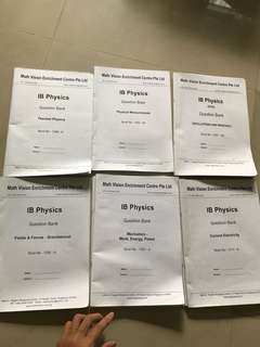 IB physics past papers by topic