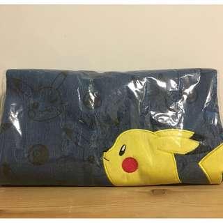 日本景品 Pokemon 比卡超 牛仔布袋