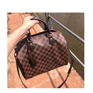 Authentic Louis Vuitton Speedy Bandouliere 30 Damier