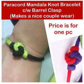 Paracord Mandala Knot Bracelet c/w Barrel clasp (makes a nice couple wear; 550 paracord550) [uncle anthony]  FOR MORE PICS & DETAILS, 👉 http://carousell.com/p/168173846