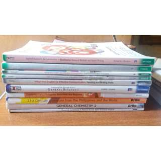 SHS textbook (All in Very Good Condition;Negotiable)