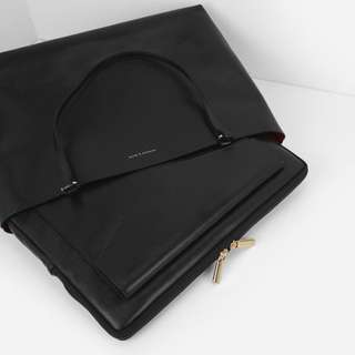 Reversible Tote / with Laptop Casing (Charles & Keith)