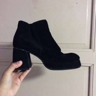 BLACK BLOCK BOOTS