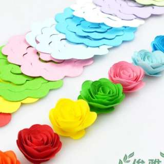 paper flower, pink and red only