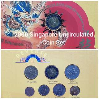 2000 Singapore Uncirculated Coin Set