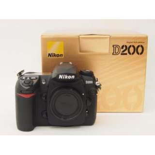 Nikon D200 Body & Original Battery Grip. Pristine Condition.