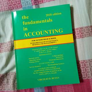 The Fundamentals in Accounting