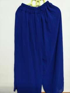 🚚 【幾乎全新】藍寬鬆寬褲