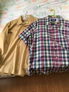 2 slighlty used XXL size long sleeves and polo shirt