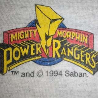Vintage power rangers 1994 tee w size