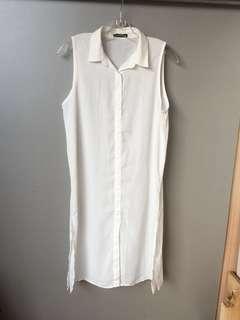 🚚 PAZZO雪紡長版外罩衫