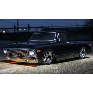 Vaterra 1/10 1972 Chevy C10 Pickup Truck V-100 S 4WD Brushed RTR, Black - In Stock Now!