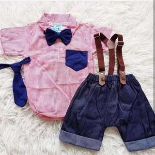 Suspender set bayi laki-laki