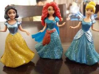 Authentic Disney Princess clip ons