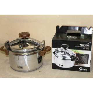 Masak Ketupat Cepat Oxone Aluminium Pressure Cooker OX-2008 - 8 Liter