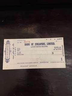 🏦新加坡銀行有限公司🏦BANK OF SINGAPORE 🇸🇬 LIMITED🏦