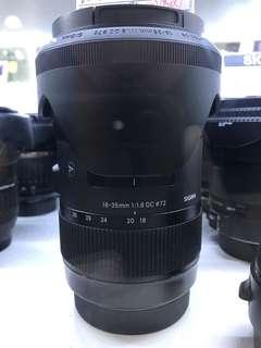 Sigma 18-35mm F1.8 Art Lens (Canon)