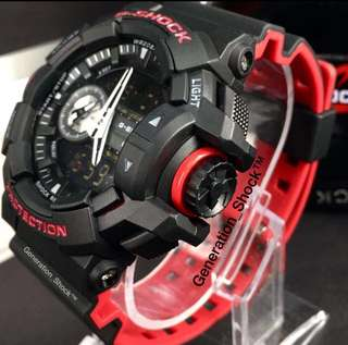 DEADPOOL🌟THEME GSHOCK 200m CASIO DIVER SPORTS WATCH : 1-YEAR OFFICIAL WARRANTY : 100% ORIGINALLY AUTHENTIC G-SHOCK Resistant in DEEP BLACK STEALTH MATT Absolutely Toughness Best Gift For Most Rough Users & Unisex : GA-400HR-1ADR / GA-400 / GA400HR / GA400