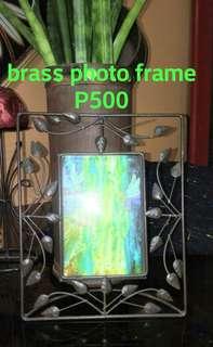 Old Brass Leaf Photo Frame