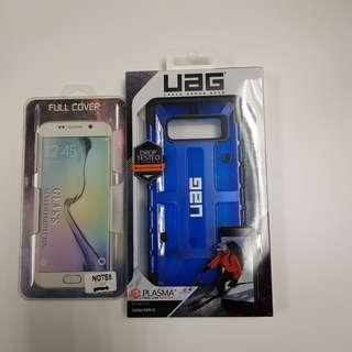 Samsung note 8 UAG plasma case with compatible glass