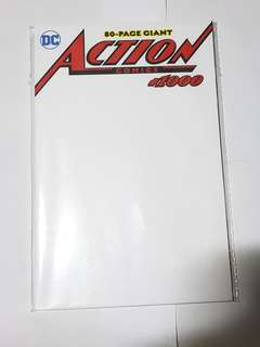 ACTION COMICS 1000 BLANK VARIANT DC COMICS