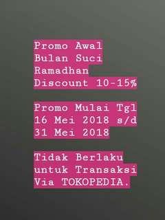 Discount 10 s/d 15%