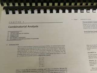 NUS ST2131 MA2216 Probability Textbook (& Worked Solutions) 2 separate books