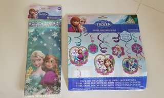 Frozen Party Supplies - Swirl Decorations & Loot Bags