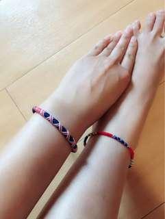 夏日必備泰國民族手繩腳繩(有不同顔色選擇)