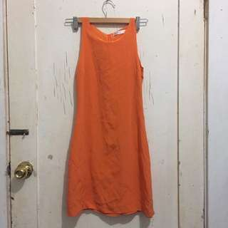 Orange dress Size 6 Xs