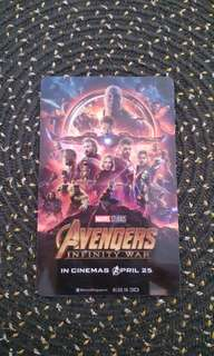 Avenger's Infinity War Movie Card