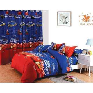 6in1 inclusions ( 1fittedsheet, 1flatsheet, 2Curtain & 2PillowCase )