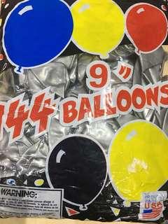"9"" Metallic Helium Balloons"