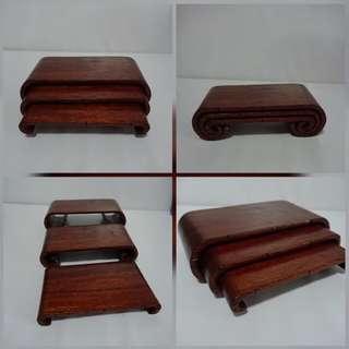 Antique Designed 3 in 1 Wooden Stands. L22 cm x W9.5 cm x H 3.5 cm