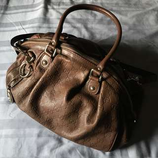 Gucci Sukey Hobo Tote Zip Top Leather Bag