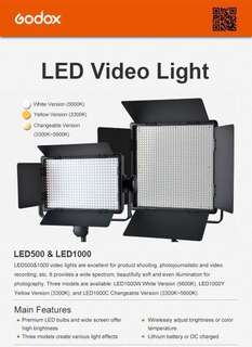 Professional LED Video Light LED1000