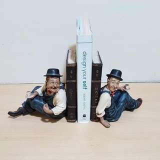 Laurel & Hardy Book Ends