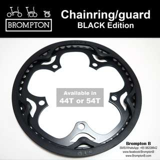 BROMPTON Chainring/guard (44T, 50T, or 54T) BLACK Edition