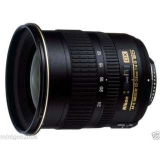 Nikon Nikkor AF-S 12-24mm f4 G ED DX Lens. Near Mint.