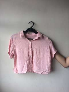 Pink loose polo