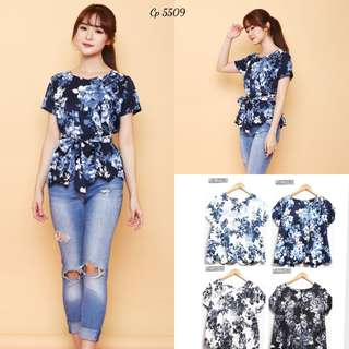 CP 5509 Flower Scallop Blouse