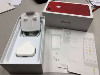 Complete set iPhone 7 Plus RED box includes accessories