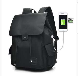 Unisex USB Charging OXFORD BACKPACK - Brand New! (Travel/School/Leisure)