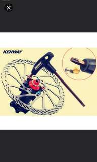 In stock! High graded KENWAY disc rotors nut installation/T25 Torx screw