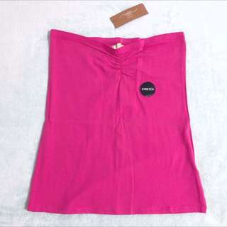 New Look Size M Brand New Plain Hot Pink Tube Tops