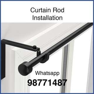 Curtain rod installation