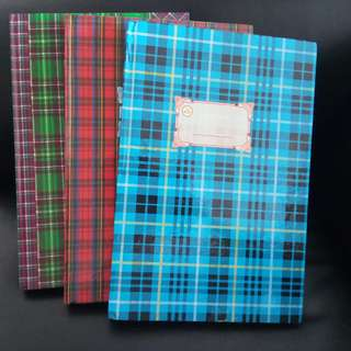 Hardcover Checkered Design Diary/Record Books. Brand new, never used