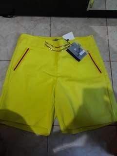 Neon yellow short